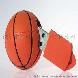 创意礼品u盘 篮球造型USB 球类u盘 可开模定做的u盘厂家
