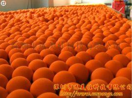 EVA发泡飞弹球 浮水EVA功夫体 不吸水海绵球定制厂家