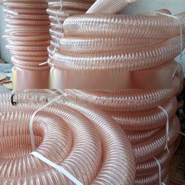 木屑吸尘软管/吸料管/PU夹钢丝软管/木工软管/吸木屑软管