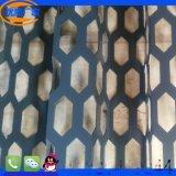 供应珠海中山冲六边型孔铝单板 折弯长城板 铝合金定制白色烤漆奥迪外墙铝板