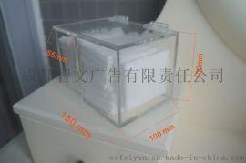 透明亚克力化妆棉收纳盒棉签盒多功能卸妆棉化妆品收纳盒顺丰包邮