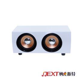 爱放木质音响 USB电脑音响 白色木质音响 厂家直销批发