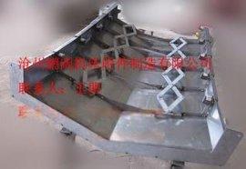 CNC数控机床专业伸缩式钢板防护罩、冷板防尘罩防护罩 不锈钢防护罩 鹏阔厂家