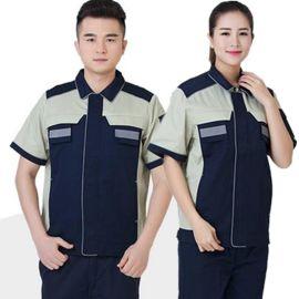 短袖汽修服套装美容电焊车间服男女工作服定做LOGO
