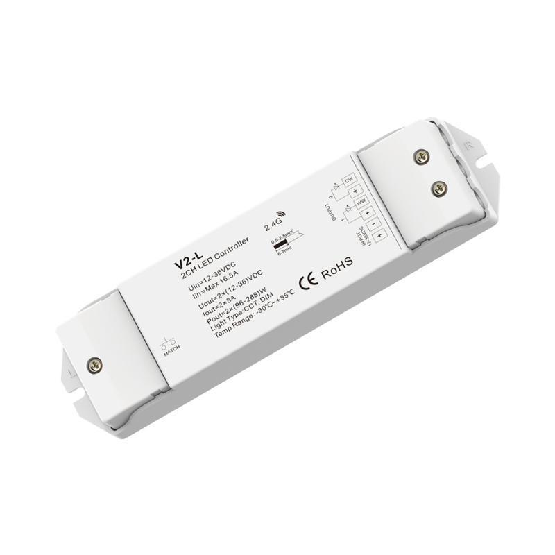 景晴LED双调色温调光器控制器 RF无线遥控接收器