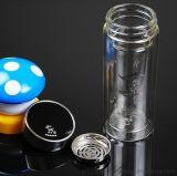 厂家供应双层真空水晶玻璃杯 广告礼品促销玻璃杯 质量保证