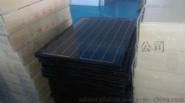 黑色边框黑色背板太阳能发电板,出口太阳能电池板
