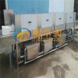 得尔润鸡肉筐清洗机器 专用 三段水餐具筐清洗烘干线