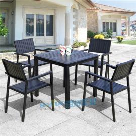 防腐木户外桌椅休闲室外桌椅庭院**吧餐桌椅五套件