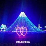 富士山流水浪漫立體造型燈/夢幻動態燈光節租賃