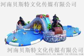 市场上受欢迎的城堡玩具和水上充气滑梯出租