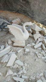 石雕喷水吐水天鹅黄金麻黄锈石汉白玉天鹅