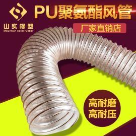 PU钢丝软风管 波纹伸缩管  耐高温伸缩管  PU钢丝螺旋管