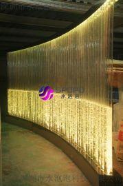 飯店採購弧形氣泡牆水舞屏風廠家直銷