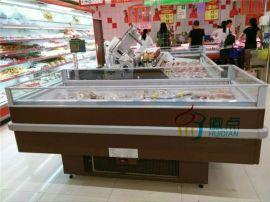安徽超市风冷单岛柜,饺子元宵速冻食品展示柜,卧式冷藏保鲜柜