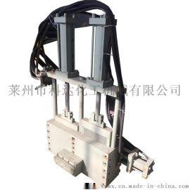 不停机左右双工位自动换网机头 液压换网模头换网器
