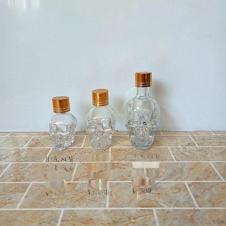 高白料小容量骷髅头玻璃瓶