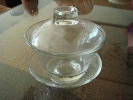 厂家直销玻璃盖碗茶具 盖碗茶杯子