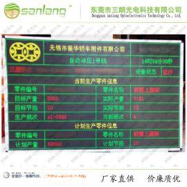 汽车产线统计汇总LED显示屏 东莞厂家专业定制开发各类产线电子看板 显示屏