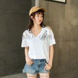 韓版夏裝短袖T恤廣州十三行韓版女裝卡通女裝T恤批發