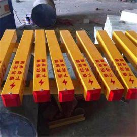 下有电缆立柱标识桩玻璃钢三角标志桩安装方便