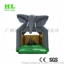 充气蹦床跳床卡通大象主题可定制化充气玩具