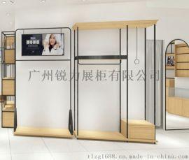 不锈钢展示架服装店展示道具定做