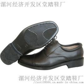真皮商务皮鞋三接头校尉皮鞋三节头皮鞋  单