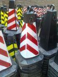 橡膠路錐方錐隔離墩警示路錐雪糕筒