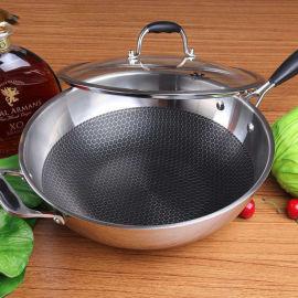 304厨具锅具不锈钢铝复合板导磁炒锅 深冲锅胚圆片