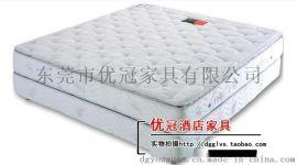 广州优冠酒店客房床垫家具 单双人椰棕席慕思弹簧床垫