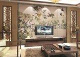 佛山瓷磚背景牆廠家個性定製彩虹石品牌客廳電視背景牆瓷磚 春曉 陶瓷藝術壁畫