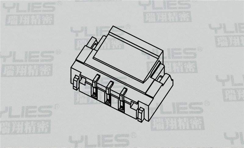 0.8mmWAFER插针 立贴PCB连接器