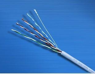 讯道电脑线8芯超五类网线250视频线千兆电线非屏蔽线305米卷