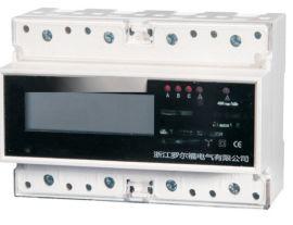 三相多功能导轨式电表 DTSD三相四线多功能电表导轨式安装
