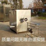 大型冻肉绞肉机   250型全不锈钢防水配置国标电机 冻肉盘绞肉机