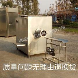 大型凍肉絞肉機   250型全不鏽鋼防水配置國標電機 凍肉盤絞肉機
