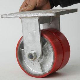 6寸重型双排定向脚轮 重型耐磨定向脚轮 静音手推车轮子轱辘批发