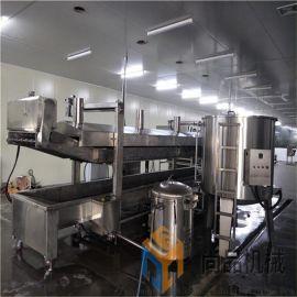 煎饼果子薄脆油炸机生产线厂家 面片油炸机专业定制