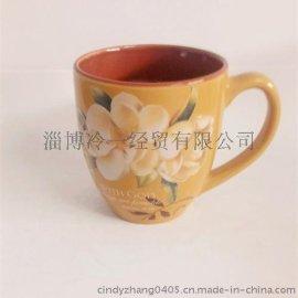 2015年淄博冷一经贸直供陶瓷色釉鼓肚杯/陶瓷杯/色釉杯 可定制尺寸和LOGO