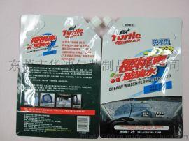 东莞华迪包装供应2kg汽车玻璃水包装袋自立吸嘴袋铝箔袋