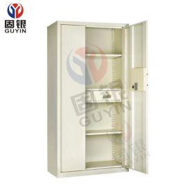 固银GY502电子保密柜连体双门两抽文件柜