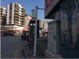 立腾机柜定做平安城市监控杆(白色)