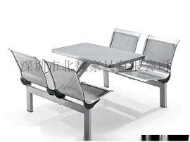 定做四人連體餐桌椅、深圳學校連體餐桌椅