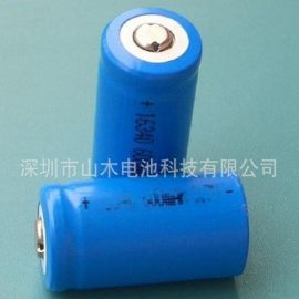 圆柱型尖头充电电池CR123a 16340 3.7V 700MAH,锂电池
