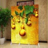 客廳玄關折疊屏風,實木移動屏風隔牆