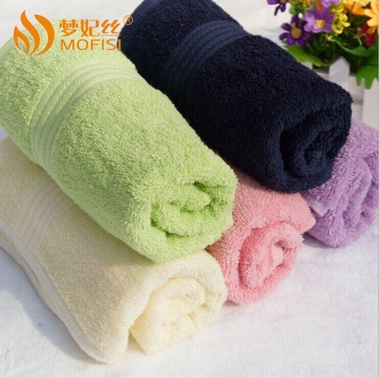 純棉淡雅素色緞檔情侶方巾全棉擦手巾洗臉巾居家毛巾禮品毛巾