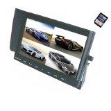 加尼鷹9寸DVR顯示器 車載四分割顯示器 錄像顯示一體機 支持32G SD卡 倒車優先 4路視頻輸入 貨車大客車視頻監控