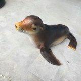 廠家直銷玻璃雕塑   海洋動物  海獅模型雕塑