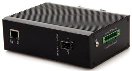 工业级千兆一光一电光纤收发器可拓展POE
